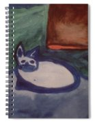 Folk Art Cat Spiral Notebook
