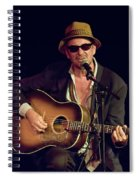 Folk Singer Greg Brown Spiral Notebook
