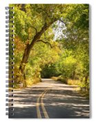 Follow The Yellow Lines Spiral Notebook