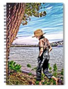 Following The River Spiral Notebook