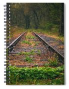 Following The Tracks Spiral Notebook