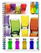 Food Coloring Ensemble Wide-rainbow Theme Spiral Notebook