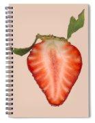Food - Fruit - Slice Of Strawberry Spiral Notebook