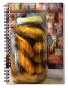 Food - Vegetable - A Jar Of Pickles Spiral Notebook
