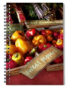 Food - Vegetables - Sweet Peppers For Sale Spiral Notebook