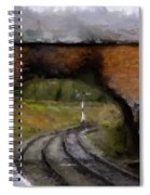 Foot Bridge. Spiral Notebook