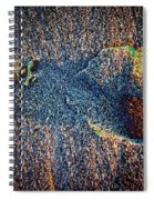 Foot In The Sand Spiral Notebook