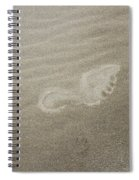 Foot Print In The Sand Spiral Notebook