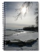 Foot Prints Along The Shore Spiral Notebook