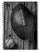 Football And Baseball Spiral Notebook