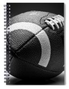 Football Black And White Spiral Notebook