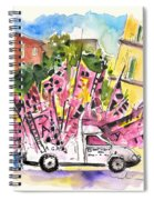 Football Flags From Palermo Spiral Notebook