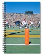 Football Game, University Of Michigan Spiral Notebook
