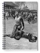 Football Injury, 1891 Spiral Notebook