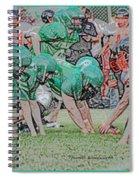 Football Playing Hard 3 Panel Composite Digital Art 01 Spiral Notebook