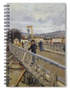 Footbridge At Argenteuil Spiral Notebook