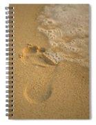 Footprint Spiral Notebook