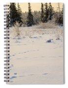 Footprints In Fresh Snow Spiral Notebook