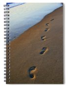 Footprints In The Sand Spiral Notebook