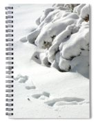 footprints in the Snow Spiral Notebook