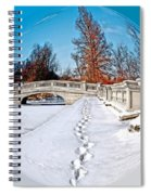 Footprints In The Snow - Sphere Spiral Notebook