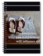 Footprints Left Behind Spiral Notebook