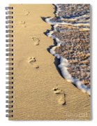 Footprints On Beach Spiral Notebook