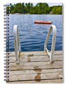 Footprints On Dock At Summer Lake Spiral Notebook