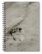 Footprints On The Beach Spiral Notebook