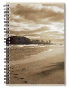 Footsteps In The Sand Spiral Notebook