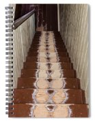 Footsteps On Wooden Stairs Spiral Notebook