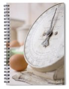 For The Baker Vintage Kitchen Scale  Spiral Notebook