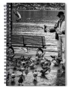 For The Birds Bw Spiral Notebook