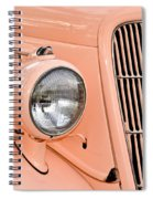 Ford Classic In Salmon Spiral Notebook