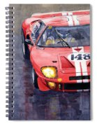 Ford Gt 40 24 Le Mans  Spiral Notebook