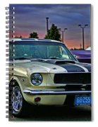 Ford Mustang At Sunset Spiral Notebook