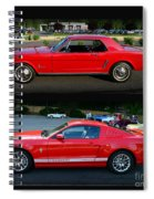 Ford Mustang Old Or New Spiral Notebook