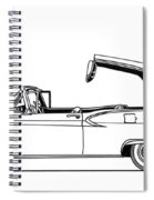 Retractable Ford Top Going Down Spiral Notebook