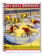 Forepaugh And Sells Wild Wheel Whirl Wonders Spiral Notebook