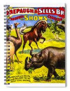 Forepaugh And Sells Wondrous Wild Beasts Spiral Notebook