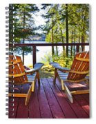 Forest Cottage Deck And Chairs Spiral Notebook