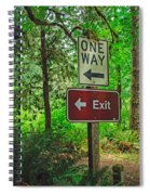 Forest Exit Spiral Notebook
