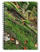Forest Floor Fungi And Moss Spiral Notebook