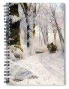 Forest In Winter Spiral Notebook