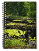 Forest Lake With Lily Pads Spiral Notebook