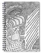 Forest Light Beams Spiral Notebook