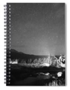 Forest Of Stars Above The Chapel On The Rock Bw Spiral Notebook