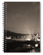 Forest Of Stars Above The Chapel On The Rock Sepia Spiral Notebook