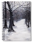 Forest Path In Winter Spiral Notebook