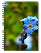 Forget Me Not Bloom Spiral Notebook